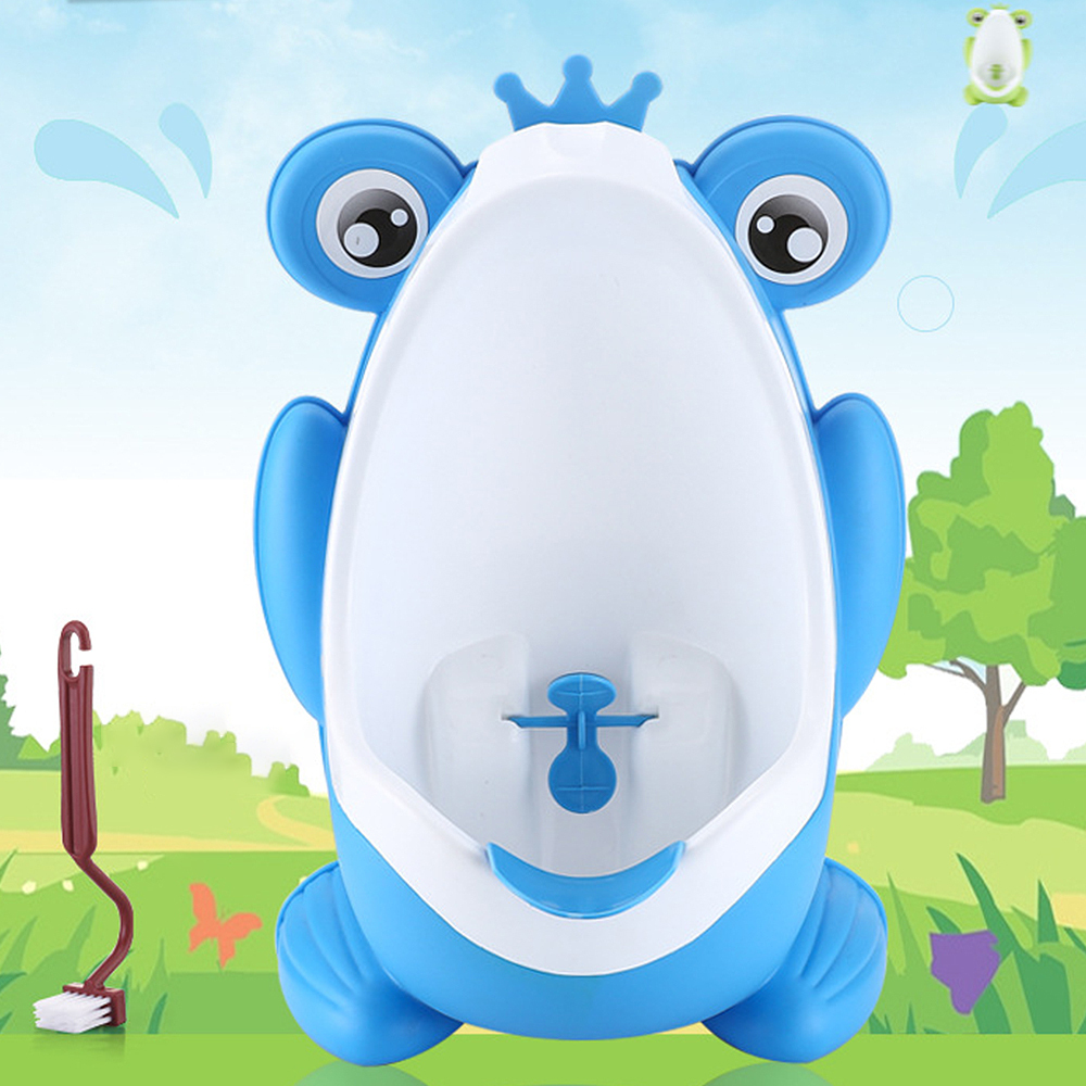 Baby Boy Potty Toilet Training Frog Kids Children WC Stand Vertical Urinal Infant Toddler Wall-Mounted Potty image