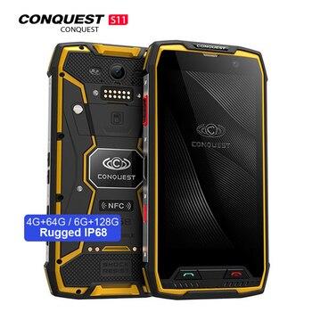 Купить Смартфон Conquest S11 ips, Android 7,0, 4G, IP68 водонепроницаемый, 6 ГБ 128 ГБ, мобильный телефон, 7000 мАч, POC, nfc, Восьмиядерный MT6757V