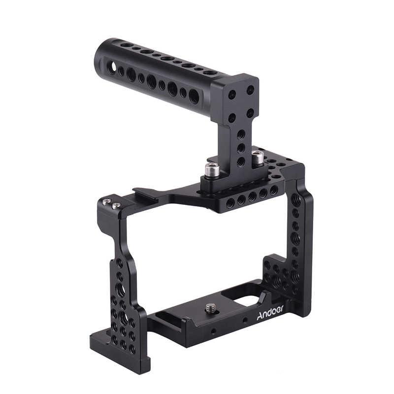 Andoer Camera Dây + Tay Bộ Ổn Định Video Với Giày Lạnh Ốp Cho Sony A7III/SII/M3/A7RII/A7RIII Camera