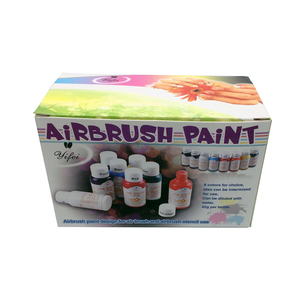 Image 5 - 30ml Airbrush Nail Art Ink Nail Pigment Set for Hand Stencils Painting Color Spray Gun Nail Accessories 8 Colors