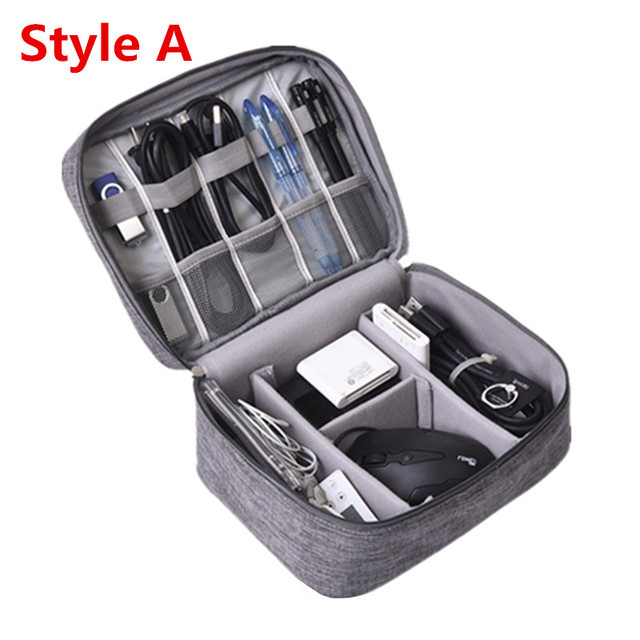 Travel Accessory Digital Bag Power Bank USB Charger Cable Earphone Storage Pouch Large Shockproof Electronic Organizer Package 5