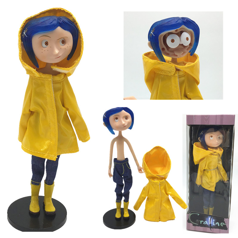 In Stock NECA Movie craline Ghost Mom Caroline Raincoat Edition Take off clothes Action Figure Toy Doll Gift 6.4inch