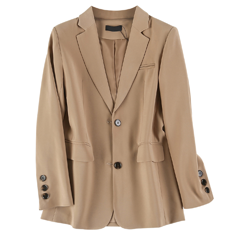 2020 New Spring Autumn Blazers Jackets Women Korean Chic Pocket Solid Casual Loose Suit Coat Female Tops Office Blazer