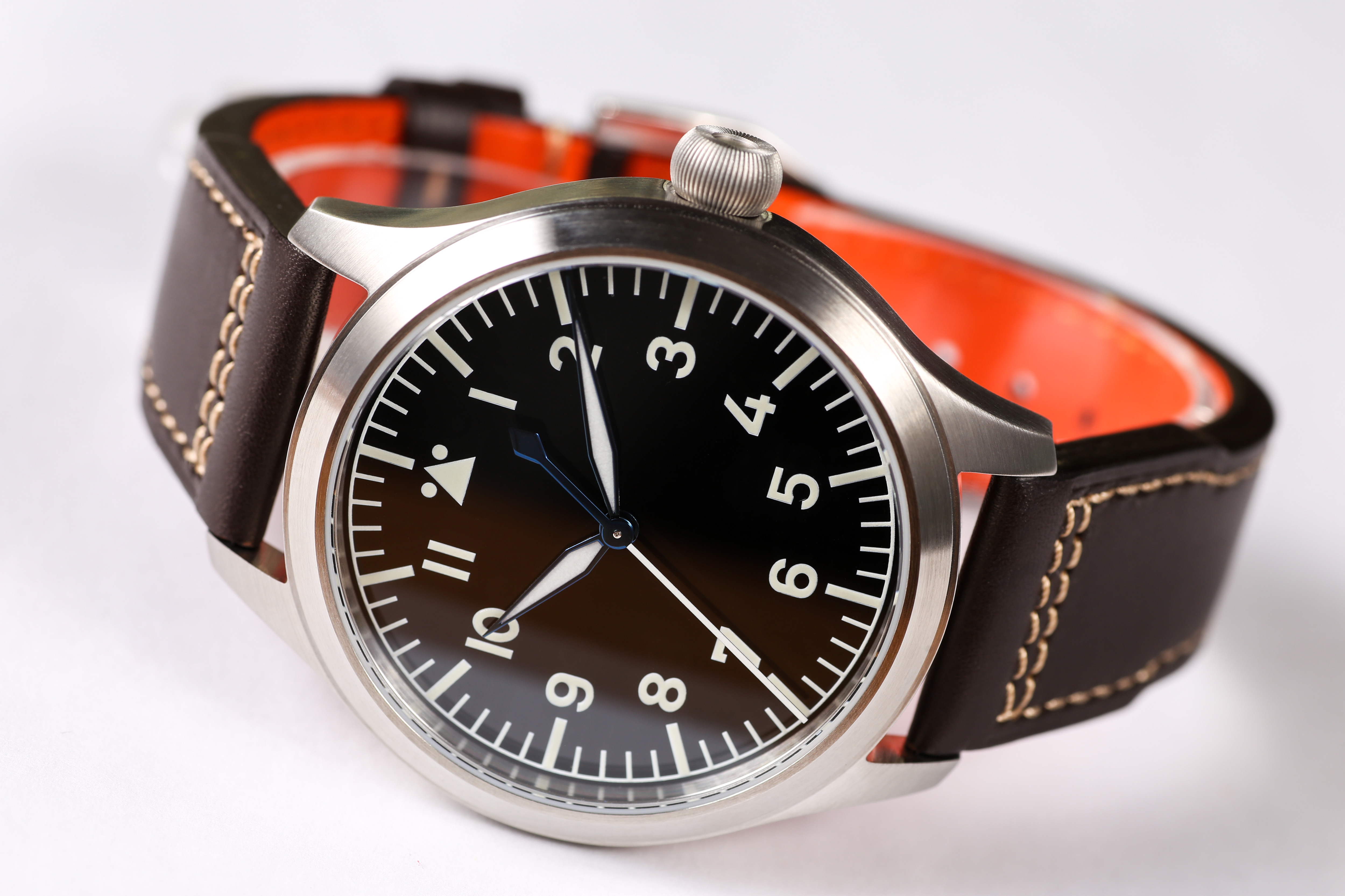 【Escapement Time】Automatic NH35 Movement Pilot Watch with Type-B or Type-A Black Dial and 42mm Case waterproof 300M 2