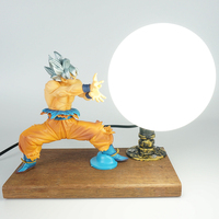 Dragon Ball Goku Table Lamp Resin Model Toys Boy Men Baby Gift Goku Kamehameha Lamp kids Room Decoration Bedside Night Light