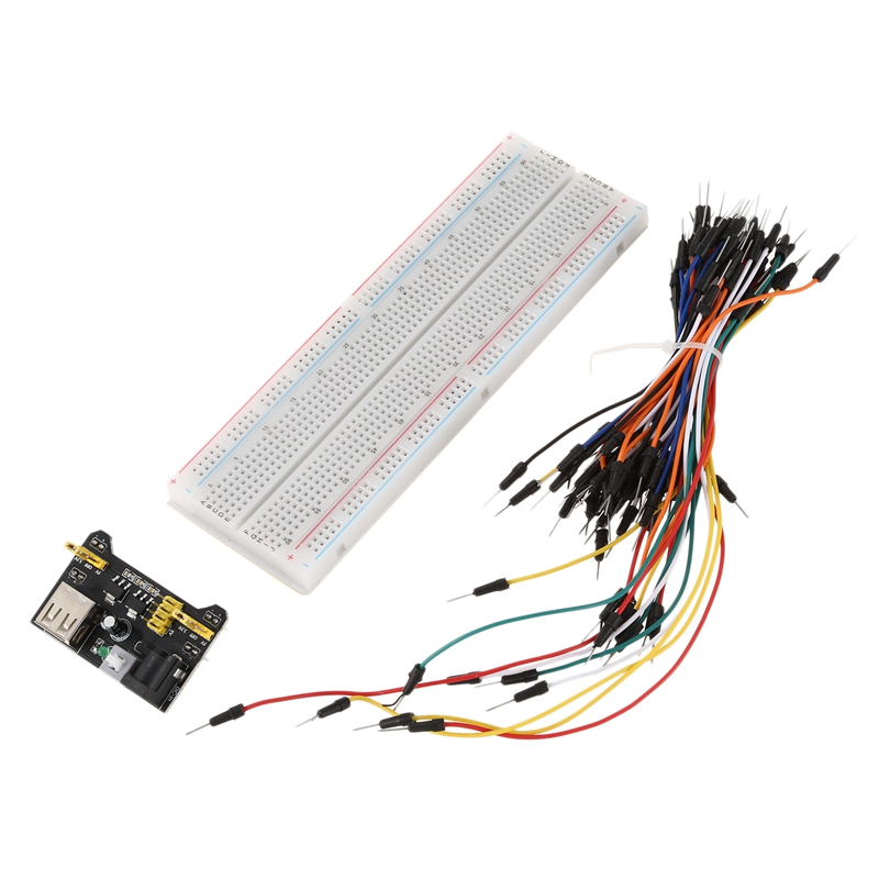 Jumper cable MB102 Power Supply Module 3.3V 5V+MB102 Breadboard Board 830 Point