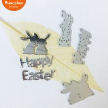1 шт. кролик Счастливой Пасхи металлические режущие штампы Kawaii Кролик DIY Выгравированные штампы ремесло изготовление бумажных карточек Скрапбукинг тиснение штампы