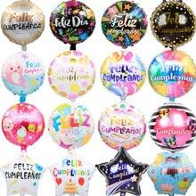 5 pçs 18 polegada espanhol folha balões para o dia das mães aniversário festa suprimentos feliz cumpleanos decorações do chuveiro do bebê crianças globos de ar