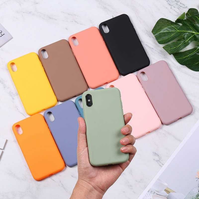 Funda de silicona para iPhone 11 Pro Max funda suave TPU trasera mate Color funda para iPhone 6 7 8 Plus 6S XS Max XR X estuche