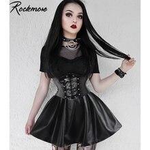 Rockmore/черные готические женские мини юбки выше колена в стиле