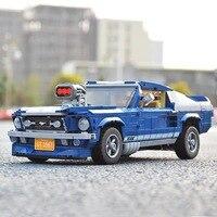 Forded Mustanged Creator Technik Mini Auto Set Bausteine Auto Ziegel Spielzeug Geburtstag Geschenke Für Kinder Kinder