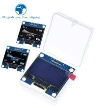 "4PIN 1.3 OLED 모듈 흰색/파란색 색상 128X64 1.3 인치 OLED LCD LED 디스플레이 모듈 1.3 ""IIC I2C arduino 용 케이스와 통신"