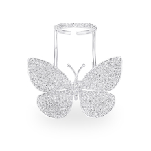 VERY GIRL Luxurious High Quality Movable Flying Butterfly Ring for Women Fashion Jewelry Wedding Rings
