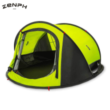 Купить Zenph Camping Throw Tent Outdoor 3-4 Persons Automatic Speed Open Pop Up Tents Waterproof Hiking Tent Double Layer Tents barraca в интернет-магазине дешево