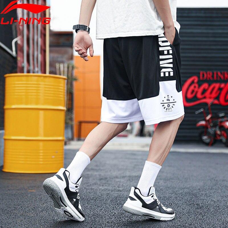 Męskie spodenki do koszykówki li-ning Bad Five ATDRY 100% poliester oddychająca podszewka spodenki sportowe Li Ning AAPM015 MKY288
