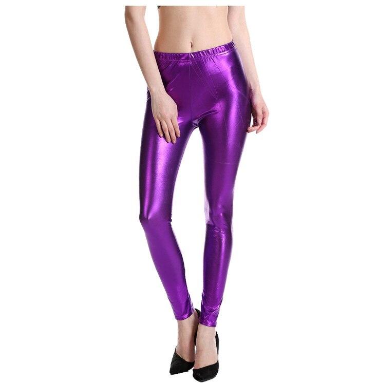 Unisex Shiny Metallic Dance Wet Look Shiny Stretchable Rainbow Hot Shorts Pants
