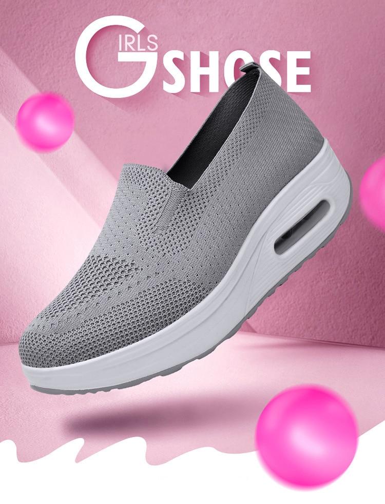 QJ 869-2020 New Spring Autumn Women's Flat Shoes Comfortable Nurse Sneakers-1