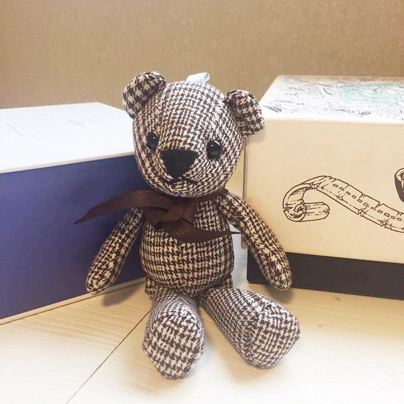Peluche ours en peluche 18-20CM, mignon lapin robe pendentif poupées cadeaux anniversaire mariage décor de fête 5
