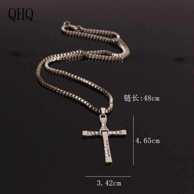QHQ תליון שרשרת שרשרת chocker הטוב ביותר חברים צלב חסר צוואר קריסטל פרל טבעי אבן זכר נשים אביזרי מתנות