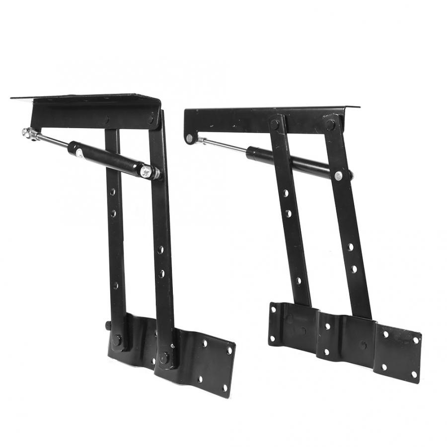 Quality A Pair Of Foldable TV Table Spring Hinge Hardware Lift Up Top Lifting Frame Spring Coffee Table Legs