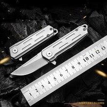KESIWO couteaux pliants mini D2, petit anneau à clé, couteau de poche de survie, à clapet, sauvetage multi pêche, EDC outils à main