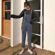 Женский джинсовый комбинезон в Корейском стиле ретро молодежная