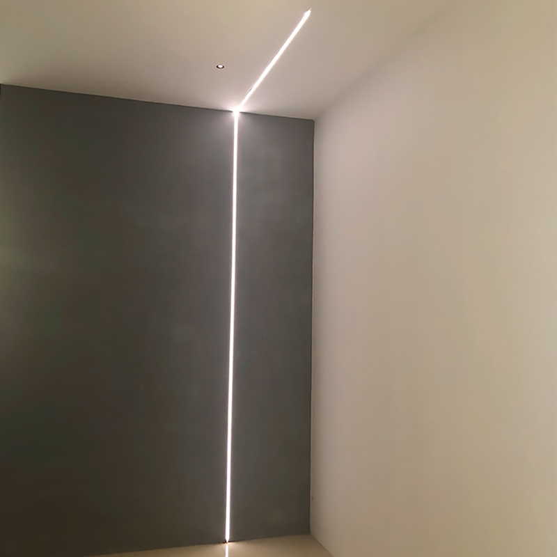 SCON 0.5M Decorative 24V 1cm Recessed Linear Bar Lights Aluminum Profile Embedded LED Strip Light Fixture Connected Avaialble
