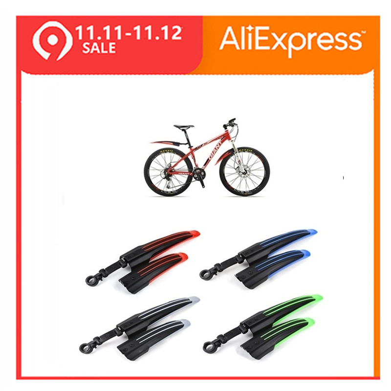 TOMOUNT 2pcs Adjustable Mountain Bike Bicycle Front/Rear Tire Fenders Mudguards Mud Guard Accessories Durable Bike Fenders
