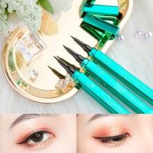 Peacock emerald green appearance eyeliner pen head hot sell color makeup waterproof No