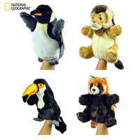 National Geographic Hand Puppet Educational Animal Plush Toys Puppets For Children Toy Action Set