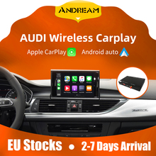 Autoradio sans fil carplay A6 c7/A7/ A4/A5 /A3/ Q5, Android auto, mise à niveau de l'écran OEM, AirPlay multimédia, pour audi carplay A6 c7/A7/ A4/A5