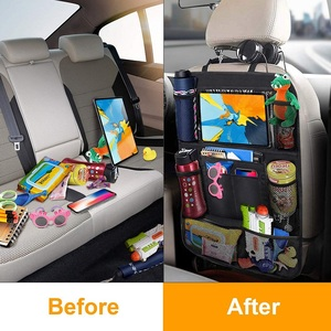 Image 4 - Car Backseat Organizer with Touch Screen Tablet Holder + 9 Storage Pockets Kick Mats Car Seat Back Protectors for Kids Toddlers
