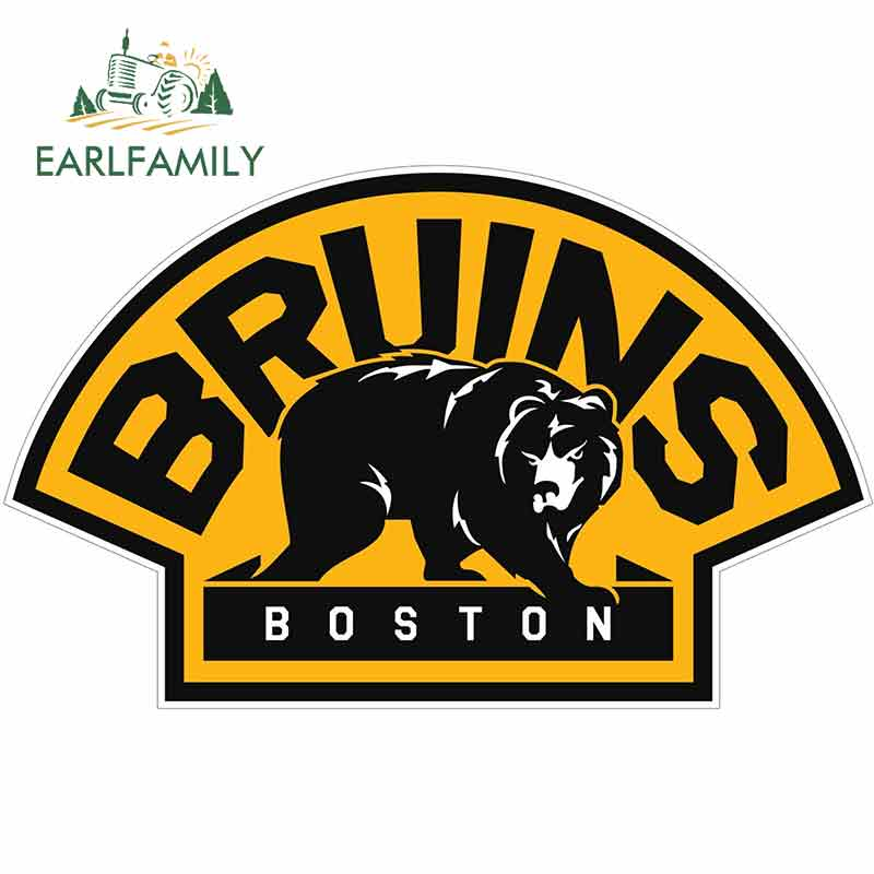 EARLFAMILY 13cm X 8.2cm For Boston Bruins  Motorcycle Stickers Vinyl Material Body For Car Fashion Decals Creative Stickers