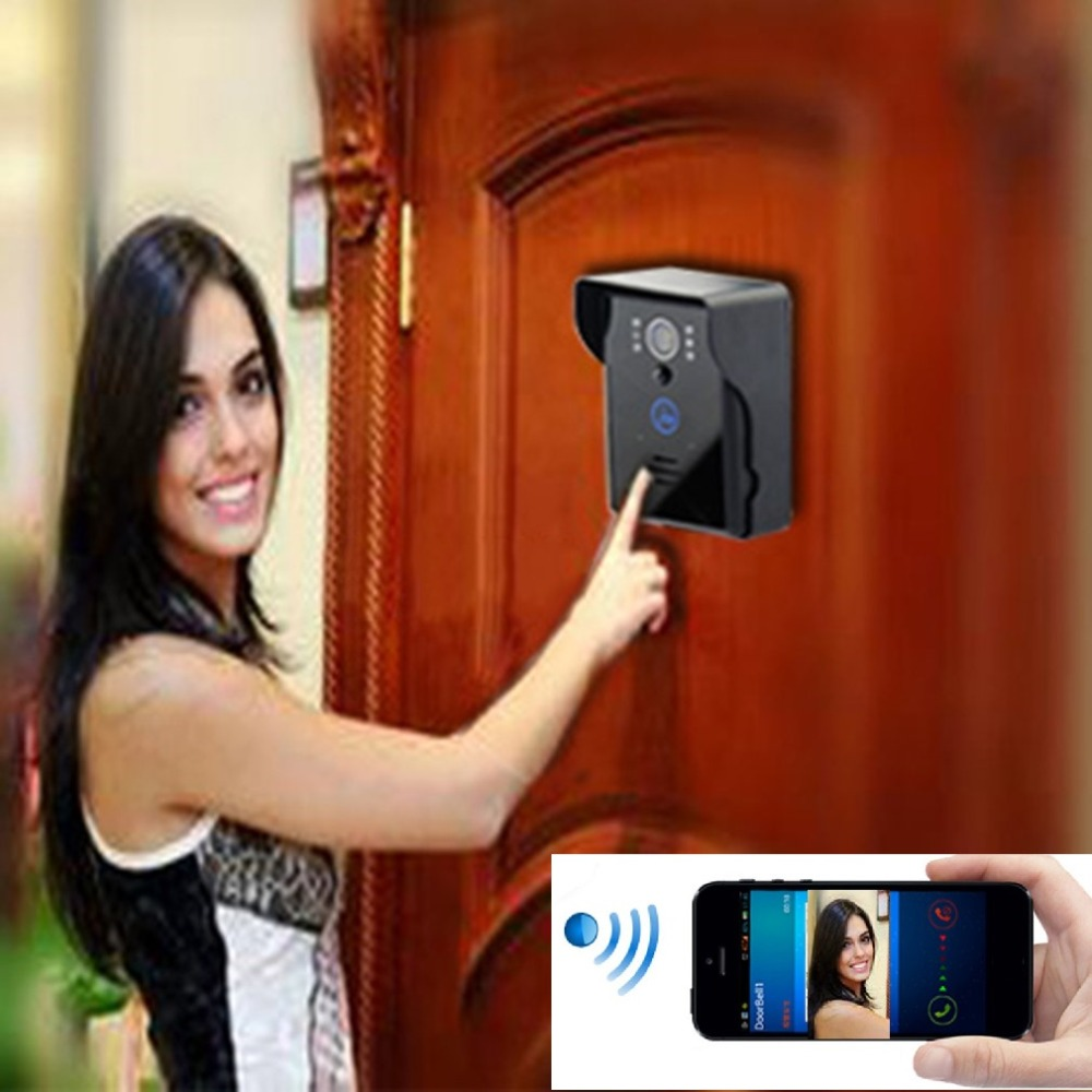 Video Intercom Doorbell Wifi Wireless Door Phone Video-eye IR Night Vision Visual  Camera Wide Viewing Angle Remote Viewing