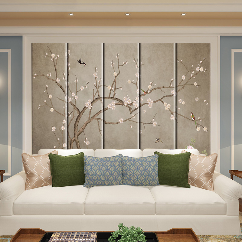 Soft Background Wall Living Room Modern Chinese Style Sofa Wall Room Bedroom Bedside Film And Television TV Backdrop Hard Bag