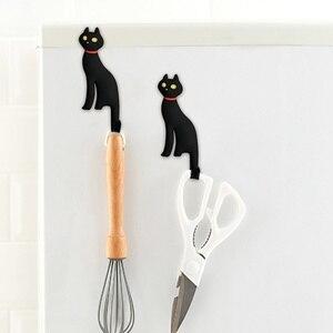 Креативный магнит на холодильник милый кот настенный крючок для ключей магнитный держатель для ключей вешалка для двери холодильника Деко...