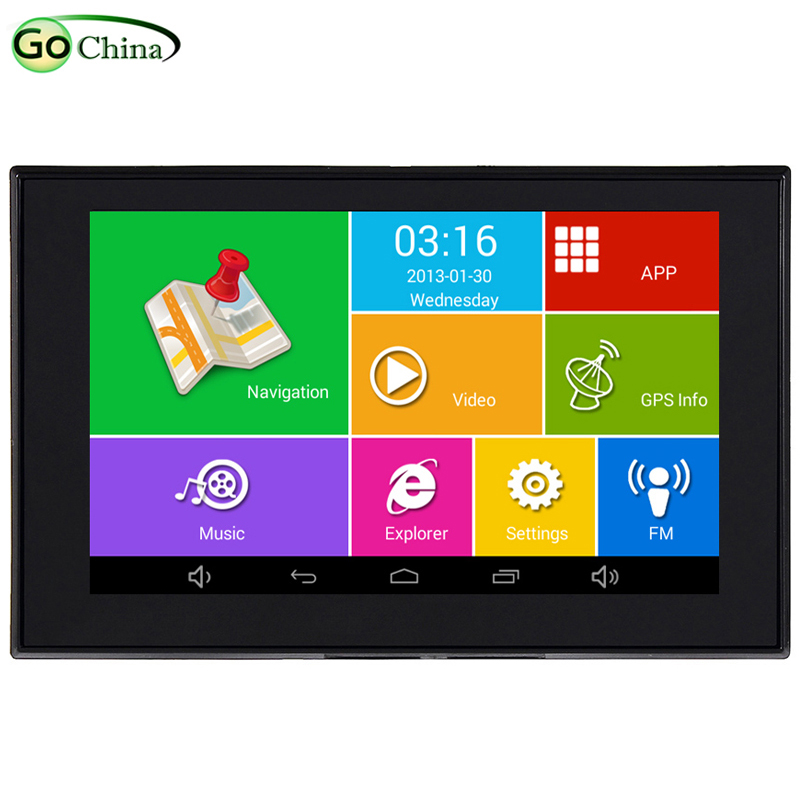 iaotuGo 5 inch Capacitive Android GPS Car GPS navigator MTK8127 Quad Core 8G storage 512RAM WIFI Bluetooth AV-IN Navigation