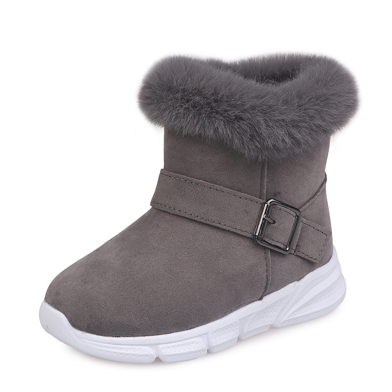 2019 New Children Shoes Winter Snow Boots Fashion Kids Fur Warm Plush Scholar Boots Girls Shoes 3 4 5 6 7 8 9 10 11 12 Year Old