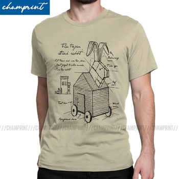 Men's Trojan Rabbit Killer Bunny T Shirt Monty Python and the Holy Grail Black Knight Clothes Novelty Tees Original T-Shirt - discount item  40% OFF Tops & Tees