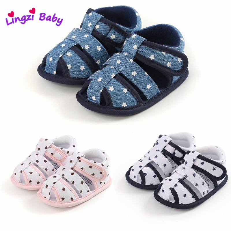 Baby Sandal Summer Toddler Boys Girls Shoes Infants Hollow Sandals Shoes Solid Cotton Casual Shoes