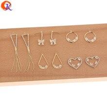 تصميم ودي 50 قطعة اكسسوارات مجوهرات/يدوية الصنع/حجر الراين مخلب سلسلة/موصلات للأقراط/Charms بها بنفسك السحر/القرط النتائج