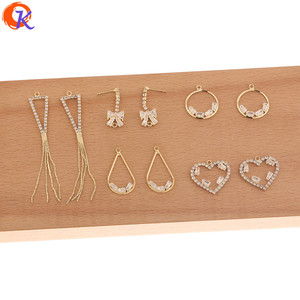 Image 1 - Cordial Design 50Pcs Jewelry Accessories/Hand Made/Rhinestone Claw Chain/Connectors For Earrings/DIY Charms/Earring Findings