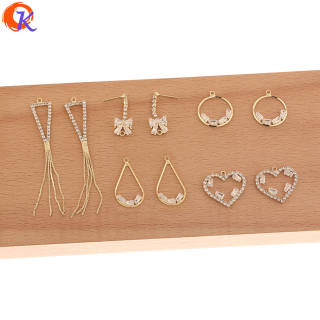 Cordial Design 50Pcs Jewelry Accessories/Hand Made/Rhinestone Claw Chain/Connectors For Earrings/DIY Charms/Earring Findings