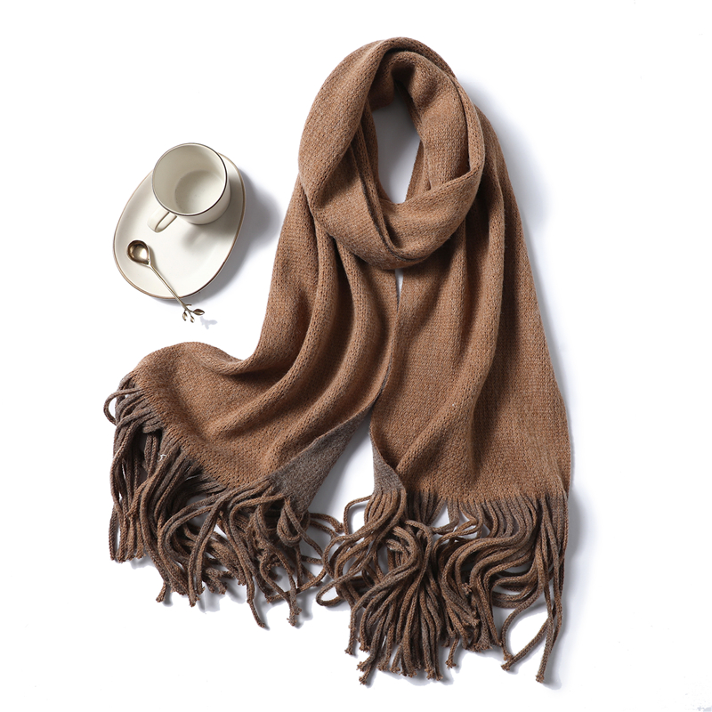 2019 New winter cashmere scarves for women fashion knit thick warm shawls and wraps lady pashmina long size bandana foulard in Women 39 s Scarves from Apparel Accessories