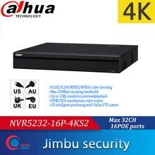 Dahua NVR 32CH NVR5232 16P 4KS2 1U Pro 네트워크 비디오 레코더 4K 및 H.265 최대 12Mp 해상도 16POE 포트가있는 미리보기 및 재생