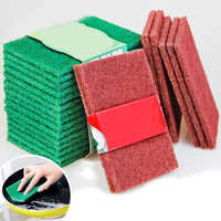 Cleaning Scouring Pads Cleaning Cloth Nylon Emery Scrubbers Pad Dish Scrubber Household Scrub Pads for Kitchen Stove Top Cleaner