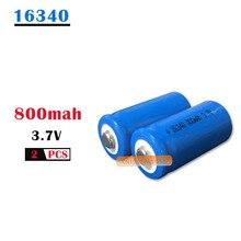 3,7 в ICR 16340 литий-ионный аккумулятор 800 мАч CR123A CR 123A перезаряжаемый литий-ионный аккумулятор для лазерного фонарика