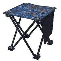 Portátil acampamento banqueta pequena dobrável cadeira de acampamento com saco de transporte para pesca caminhadas jardinagem praia|Cadeiras de pesca| |  -