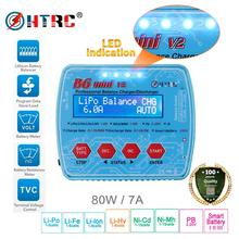 HTRC Digital RC Battery Balance Charger iMax B6 Mini V2 80W for PB Lipo Lihv LiIon LiFe NiCd NiMH Smart Battery Discharger