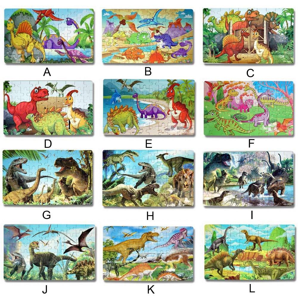 Jigsaw Puzzle Puzzle 60 Pieces Dinosaur Puzzle, Wooden Puzzles 60 Pieces Puzzles For Kids 3 Years+Dino Toys Boy Educational Toys